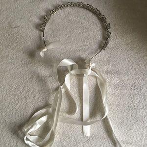 Torrid Leaf Rhinestone Headband-silver